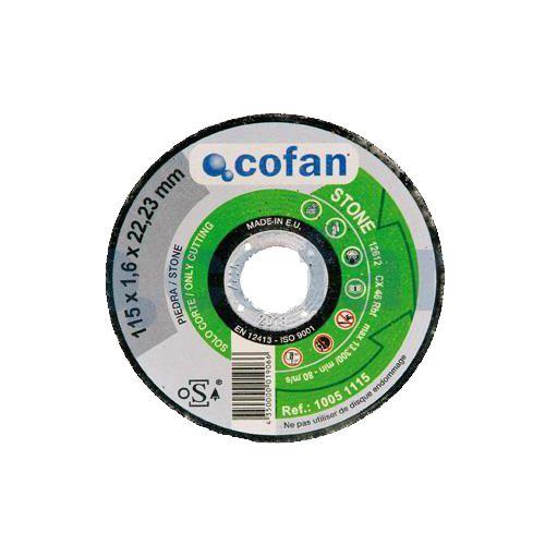 DISCO CORTE PIEDRA 115 FINO 1.6mm Cofan PROFESIONAL