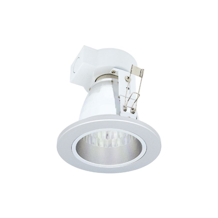 DOWNLIGHT MINI VERTICAL E-27 PLATA F.Bright