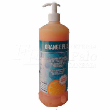 LIMPIADOR MANOS INDUSTRIAL GEL DOSIFICADOR 1000ml ORANGE PLUS