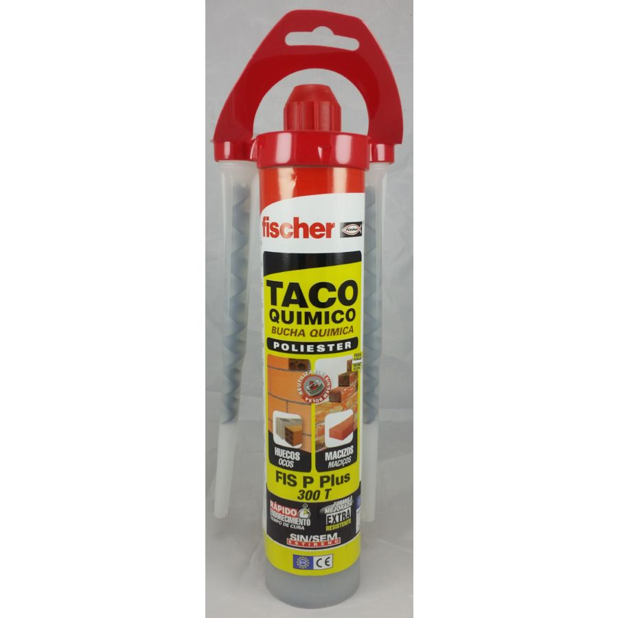 TACO QUIMICO FISCHER 300 ml POLIESTER FIS P 300 T + CANULA (HUECOS)