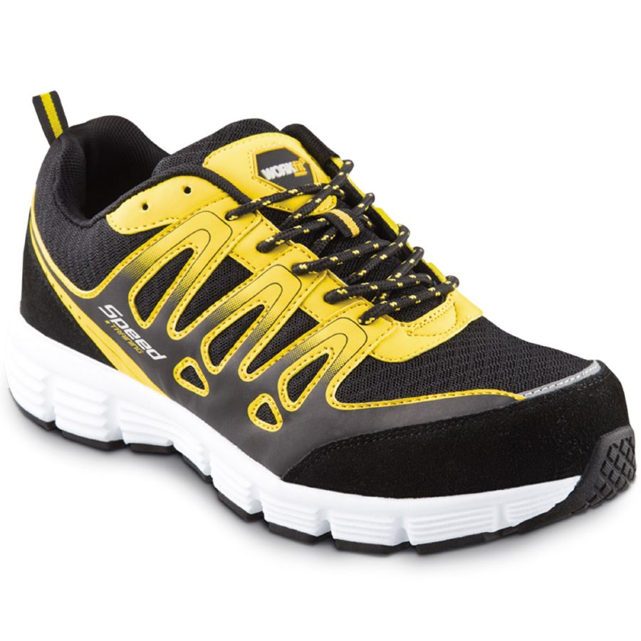 ZAPATO DEPORTIVO SEGURIDAD WORKFIT SPEED AMARILLO Nº 45